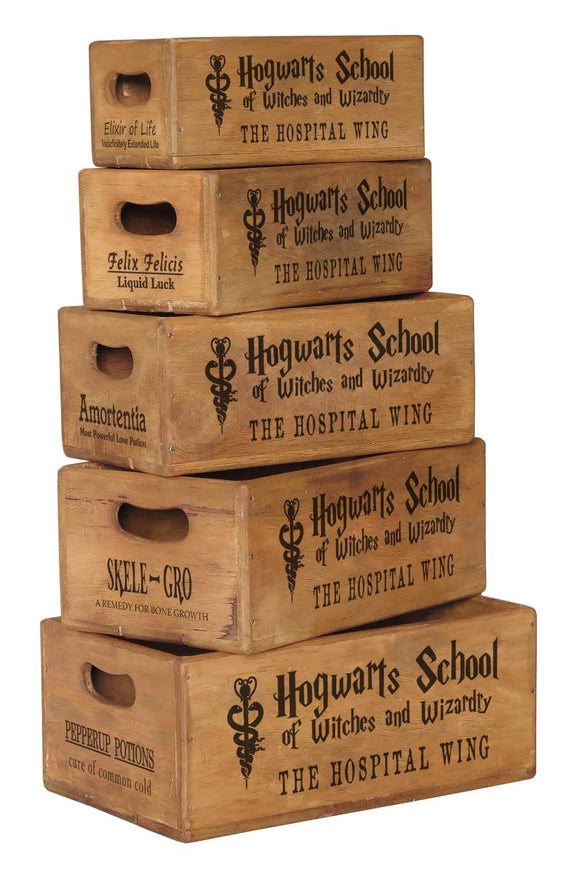 Set of 5 Nesting Shellfish Boxes - Hogwarts School