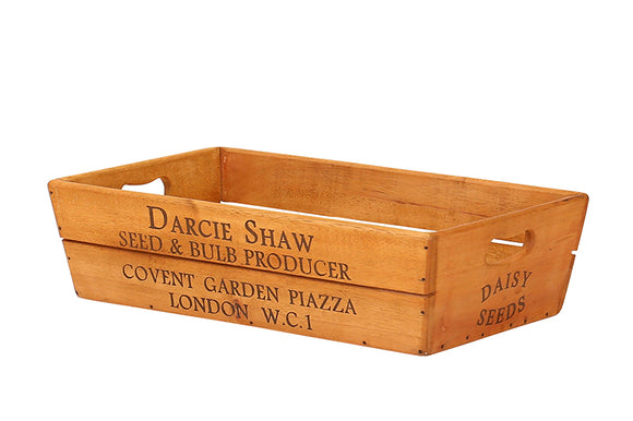 Large Vintage Style Wooden Flower Box - Darcie Shaw