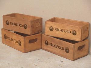 Set of 4 Rectangular Boxes - Prosecco