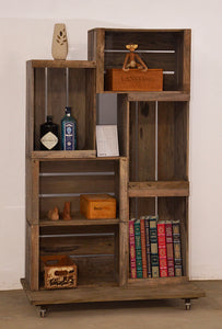 Display Unit on Wheels with 6 Apple Crates