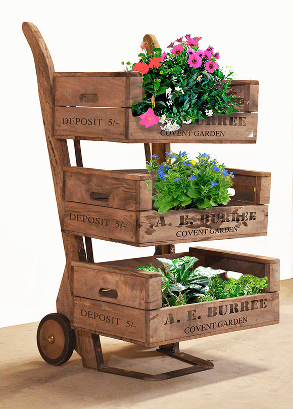 Sack Barrow 3 Tier Display Unit on Wheels