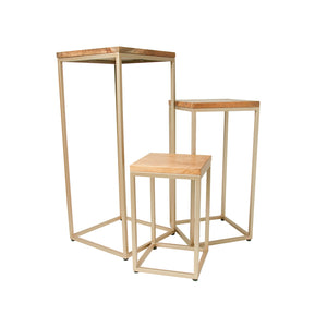 Luxe Set of 3 Stacking Plant Stands