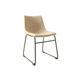 Set of 2 Stockholm Dining Chairs in Oyster Moleskin