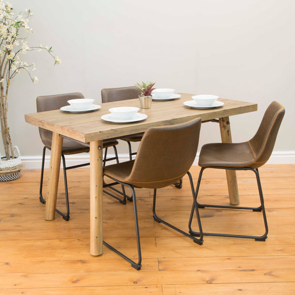 Set of 2 Stockholm Dining Chairs in Chestnut Vintage