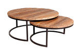 Railway Sleeper Coffee Tables - Set of 2