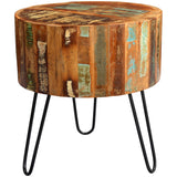 Coastal Drum Side Table