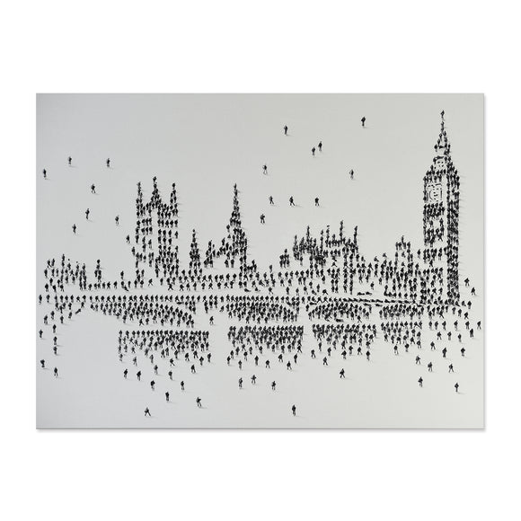 Handpainted London Skyline Canvas