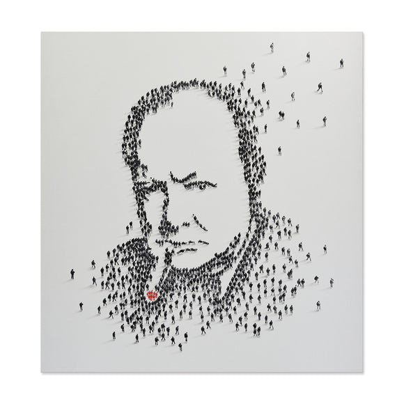 Handpainted Churchill Canvas