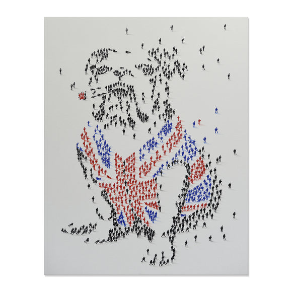 Handpainted British Bulldog Canvas