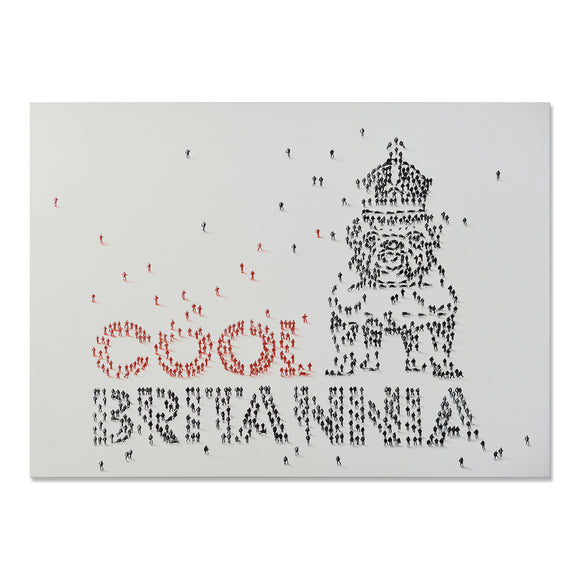 Handpainted Cool Britannia Canvas