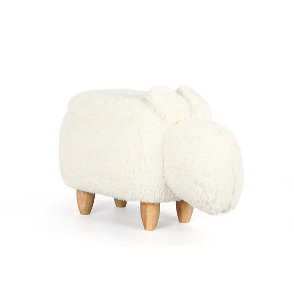 White Rabbit Ottoman Stool