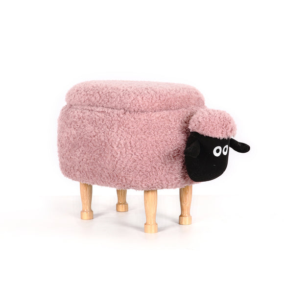 Pink Sheep Ottoman Stool