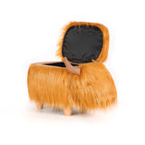 Highland Cow Ottoman Stool
