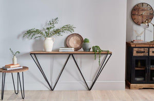 Cosgrove Console Table with Geometric Frame