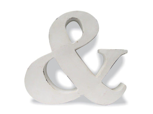 Re-engineered Ampersand Wall Art Industrial White