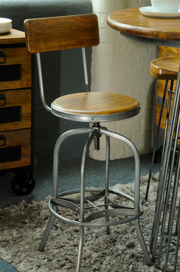The Loft Bar Stool with Back Rest