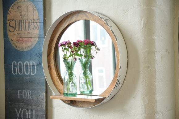 The Loft Porthole Mirror with Shelf