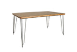 The Loft Hairpin Leg Dining Table Plain Top