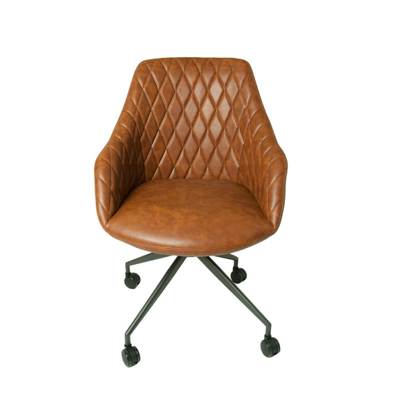 Chicago Desk Chair in Tan Vegan Leather