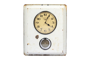 Old Ceramic Tray Clock with Pendulum