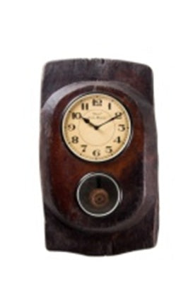 Upcycled Old Wood Clock with Pendulum