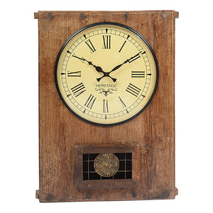 Old Wooden Indian Clock
