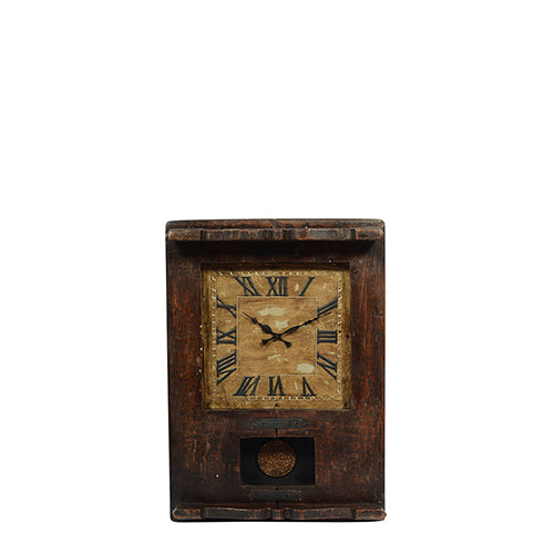 Old Rustic Wooden Clock