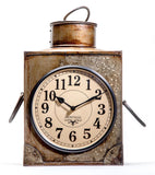 Upcycled Old Iron Container Clock