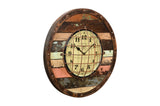 Round Reclaimed Wooden Clock