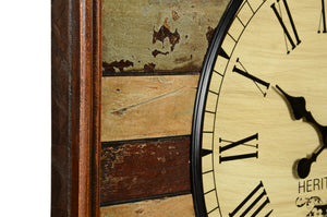 Reclaimed Wooden Clock with Coloured Slates