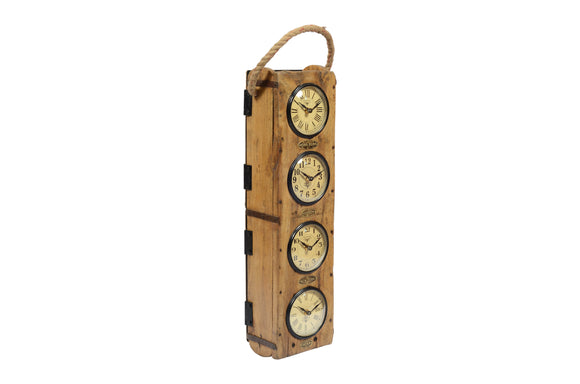 Recycled Brick Mould World Time Clock
