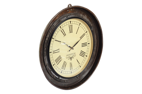 Old Iron Tray Inset Clock