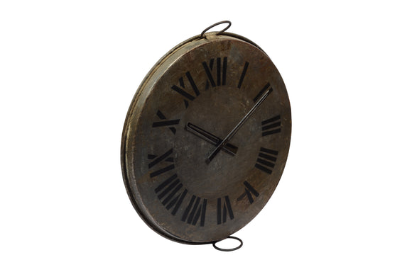 Old Iron Tray Clock
