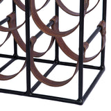 Palmerston Square Leather Sling Wine Rack - 9 Bottle