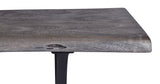 Live-Edge Weathered Grey Acacia Dining Bench 2m