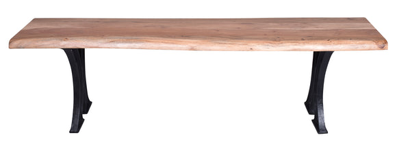 Live-Edge Natural Acacia Dining Bench 1.6m