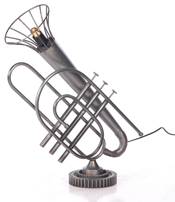 Vintage Trumpet Table Lamp