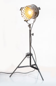 Vintage Tripod Spotlight Inspired Floor Lamp