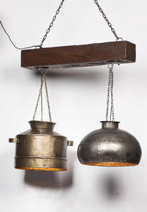 Reclaimed Pots Ceiling Lamp