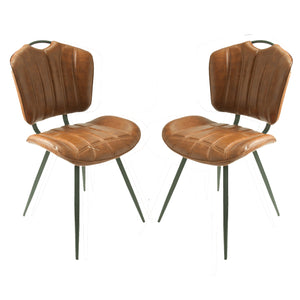 Set of 2 Madrid Dining Chairs in Tan