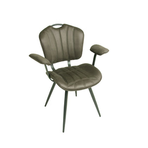 Set of 2 Madrid Carver Chairs in Mussel Moleskin