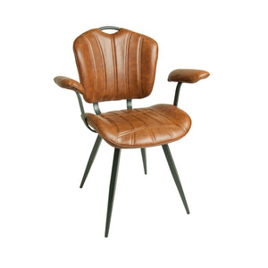 Set of 2 Madrid Carver Chairs in Tan