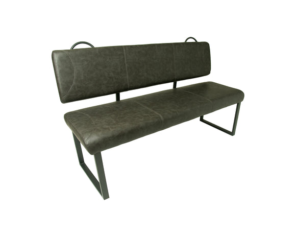 Madrid Dining Bench in Grey