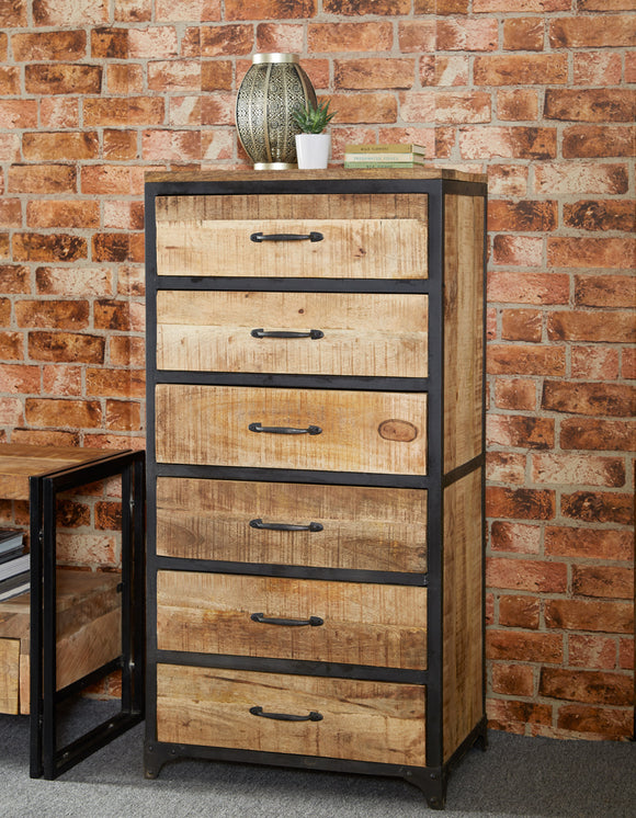 Cosmo Industrial Tall Chest - Kate Newington Interiors