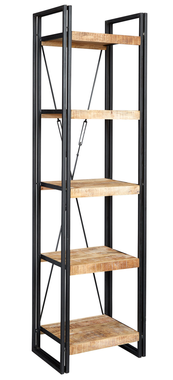 Cosmo Industrial Slim Open Bookcase - Kate Newington Interiors