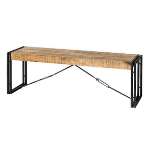 Cosmo Industrial Metal and Wood Bench
