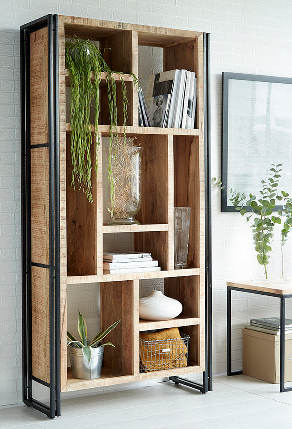 Cosmo Industrial Multi Shelf Bookcase - Kate Newington Interiors