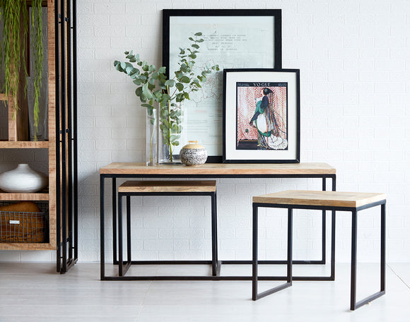 Cosmo Industrial John Long Coffee Table - Kate Newington Interiors