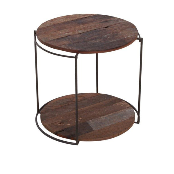 Clovelly Side Table with 2 Shelves (Small)