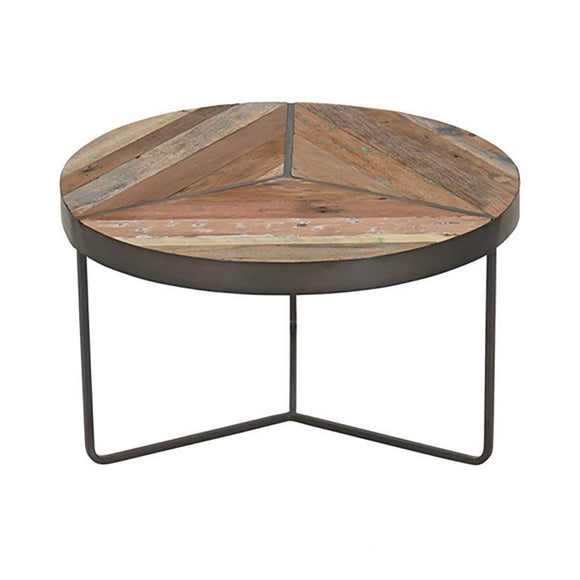 Clovelly Rustic Round Coffee Table - Small